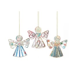 Mai Vietnamese Handicrafts Paper Angel Ornament