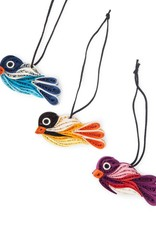 Mai Vietnamese Handicrafts Quilled Bird Ornament