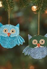 Mai Vietnamese Handicrafts Quilled Owl Ornament