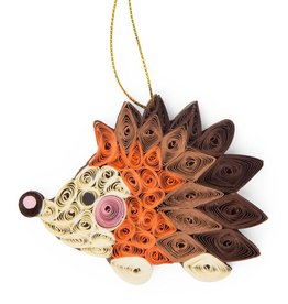 Mai Vietnamese Handicrafts Quilled Paper Hedgehog Ornament