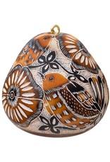 Lucuma Designs Lace Birds Gourd Ornament