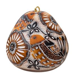 Lucuma Designs Lace Birds Gourd Ornament