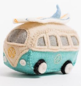 Craftspring Surf's up Hippie Bus Ornament