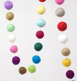 Ganesh Himal Colorful Felt Ball Garland