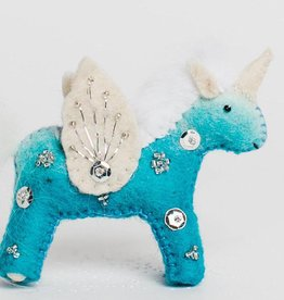Craftspring Blue Unicorn Kid Ornament