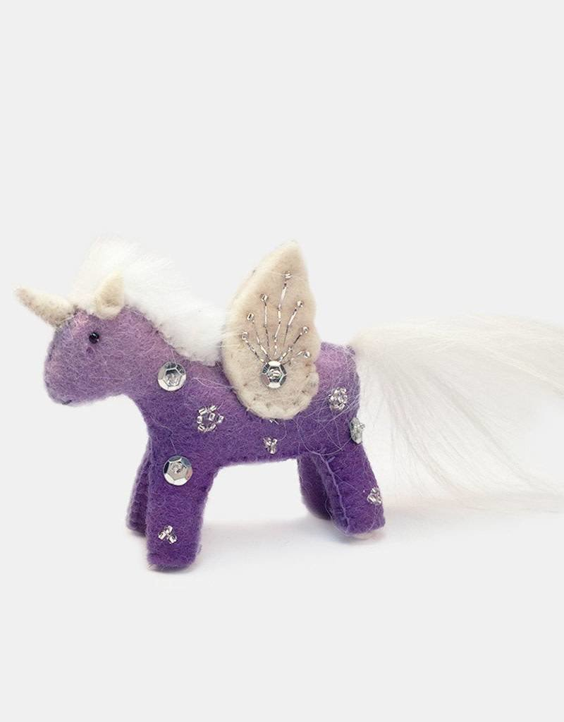 Craftspring Purple Unicorn Kid Purple Ornament