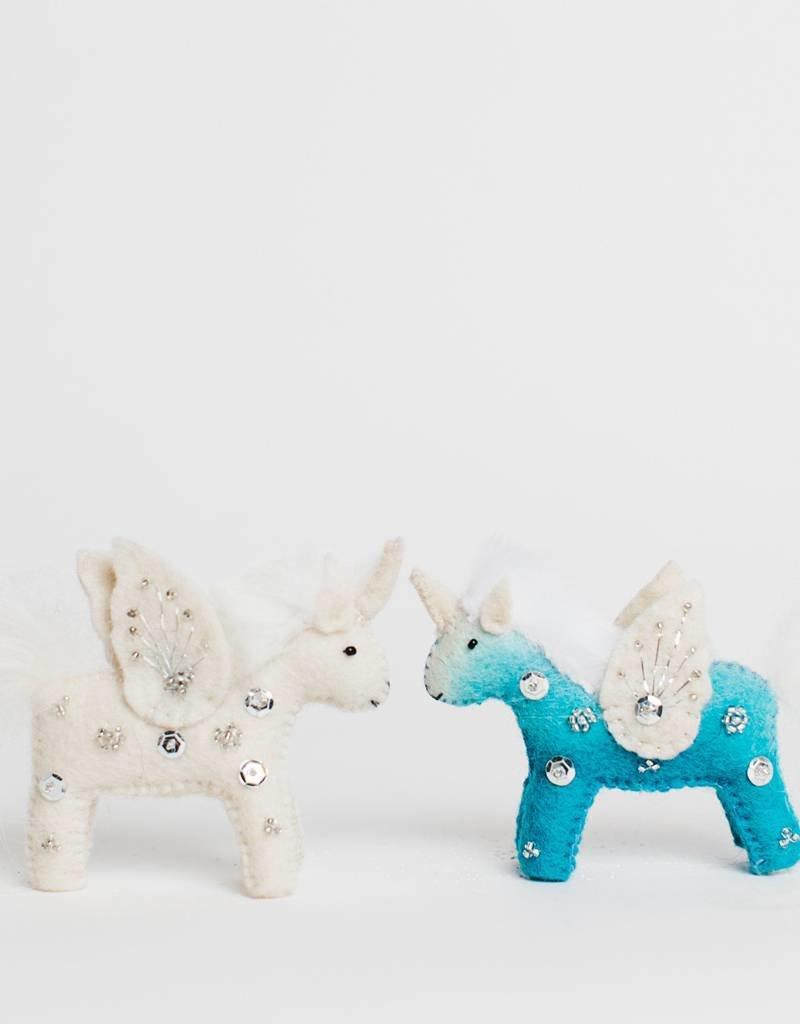 Craftspring Blue Unicorn Kid Ornament