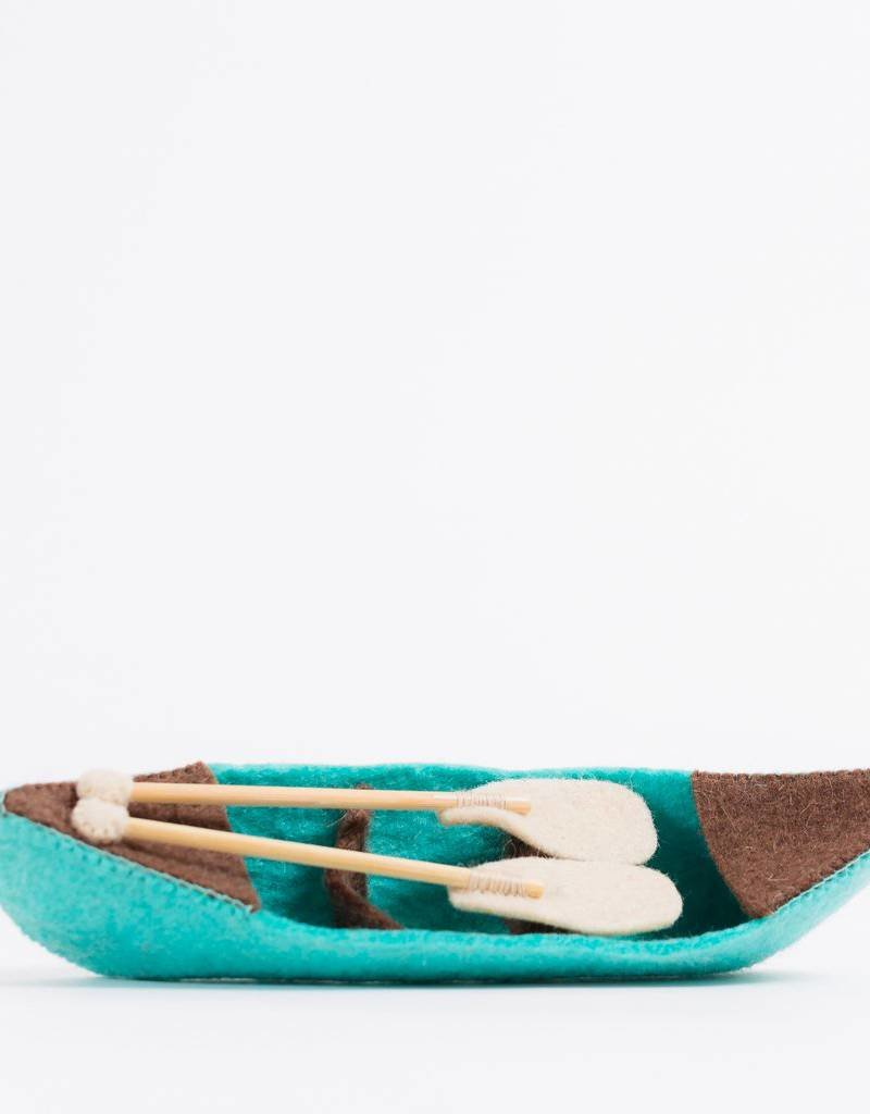 Craftspring Riverbend Blue Canoe Ornament