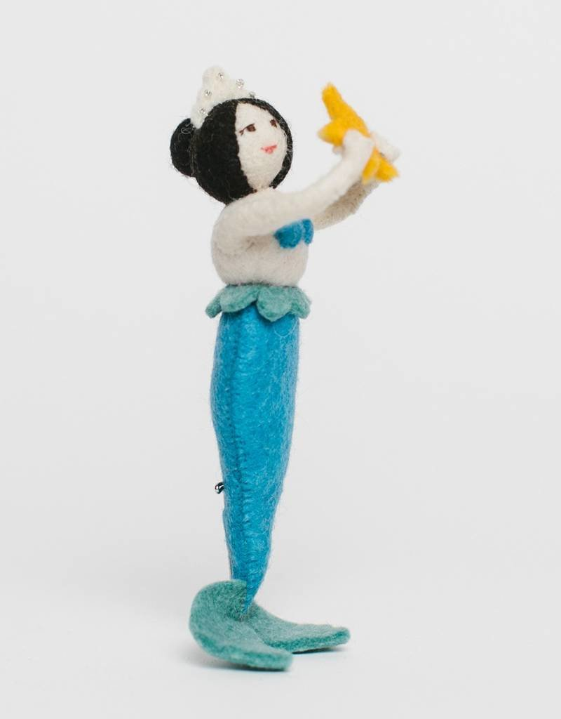 Craftspring Sea Star Blue Mermaid Ornament