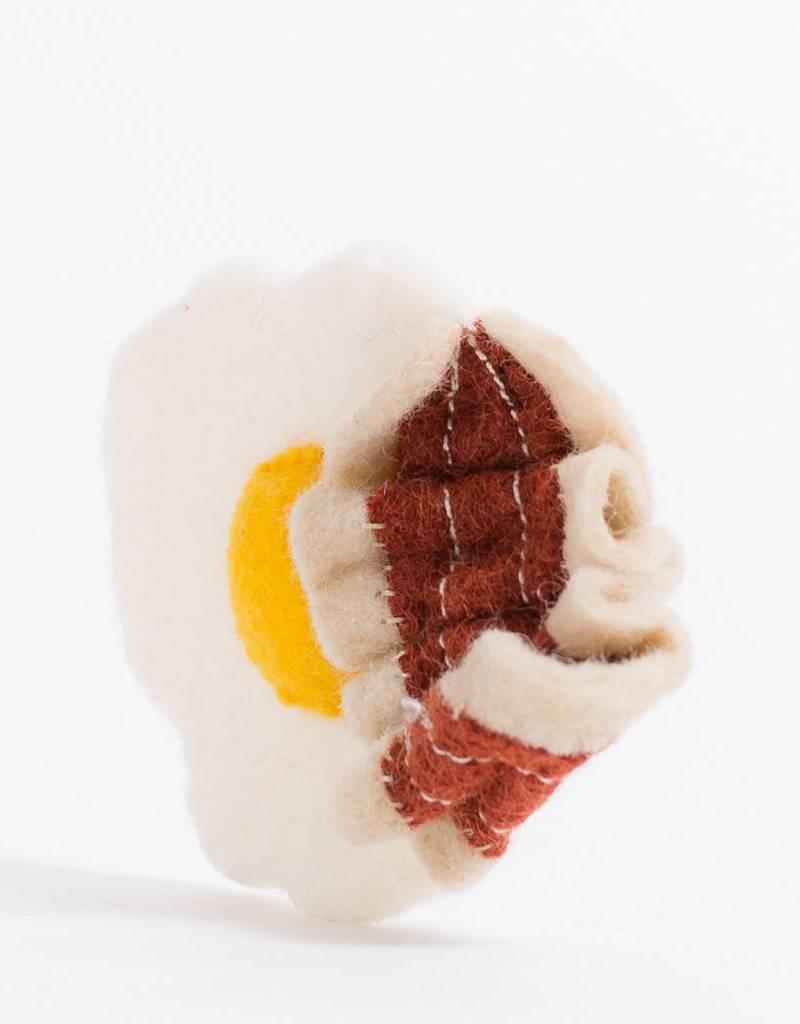 Craftspring Bacon & Egg Sunny Side Breakfast Ornament