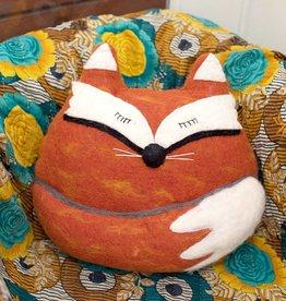 dZi Fox Felted Throw Pillow