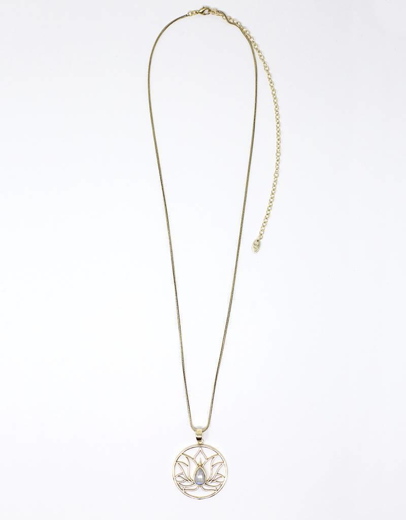 dZi Lotus Inspiration Necklace