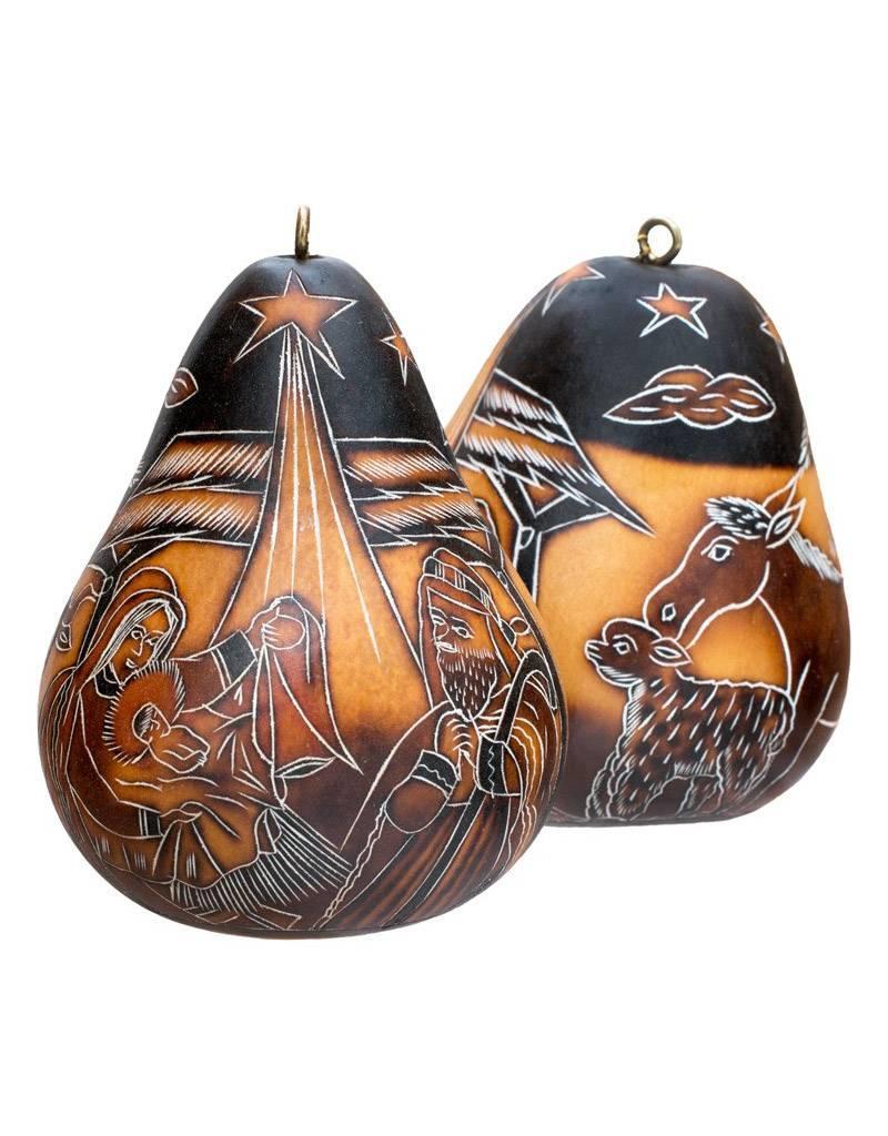 Lucuma Designs Nativity Gourd Ornament