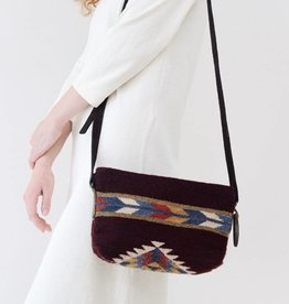MZ Fair Trade Crimson + Feather Crossbody Purse