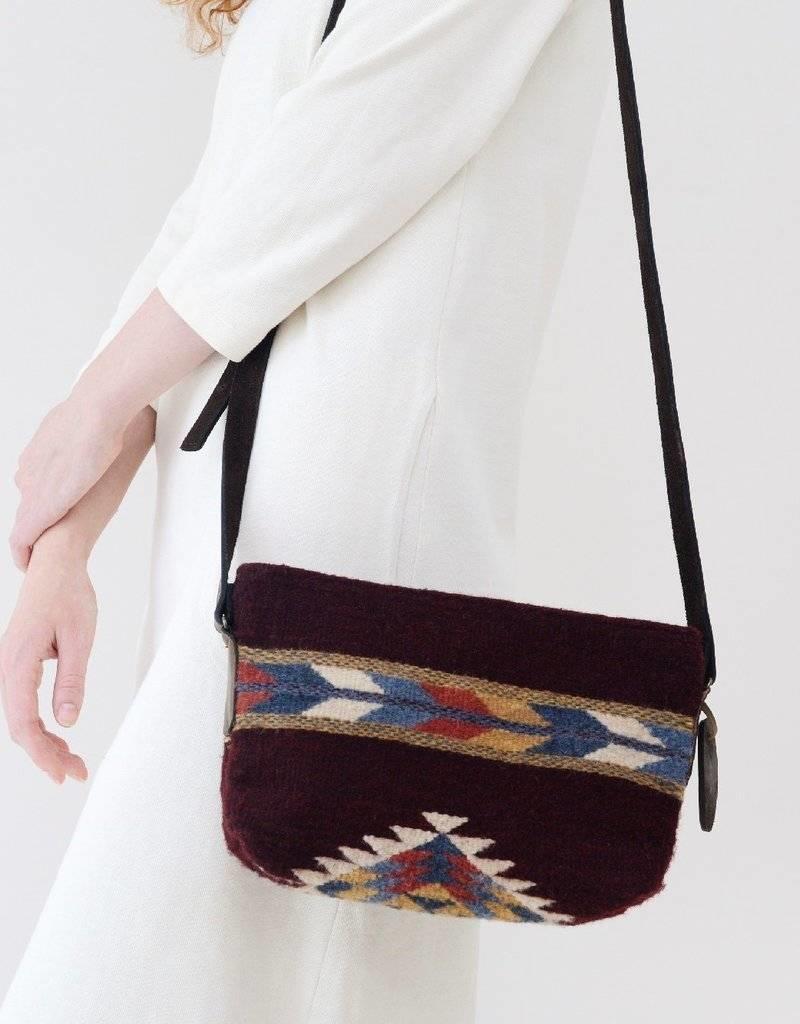 MZ Fair Trade Crimson + Feather Crossbody Purse