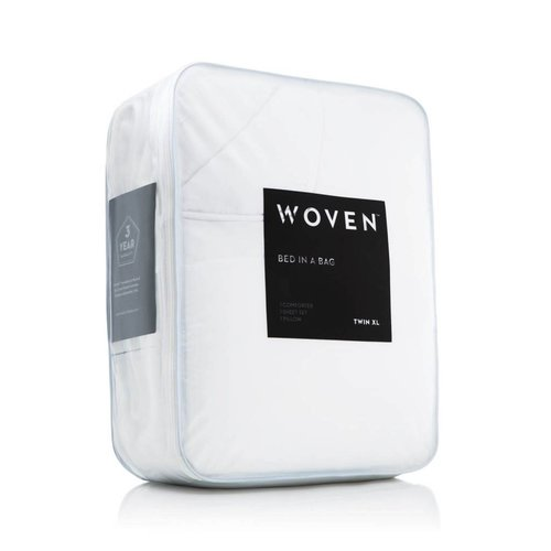 MALOUF WOVEN Bed-In-A-Bag - Twin Extra Long White