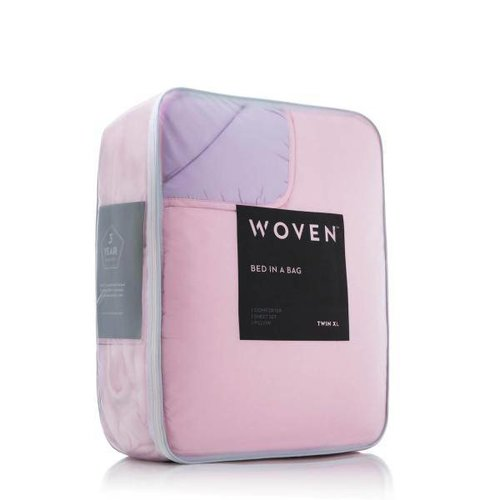 MALOUF WOVEN Bed-In-A-Bag - Split King Lilac/Blush