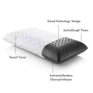 MALOUF Zoned ActiveDough+Bamboo Charcoal Pillow - Queen