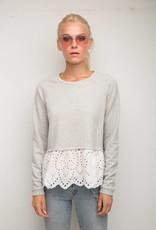 Elena Eyelet Lace Sweatshirt