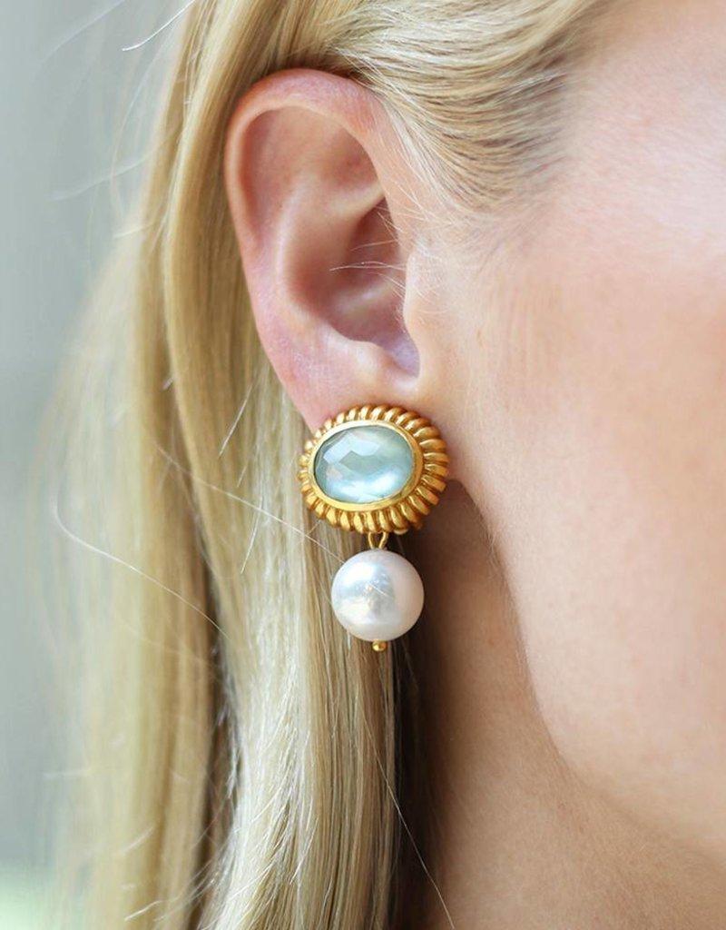 Byzantine Pearl Drop Earring