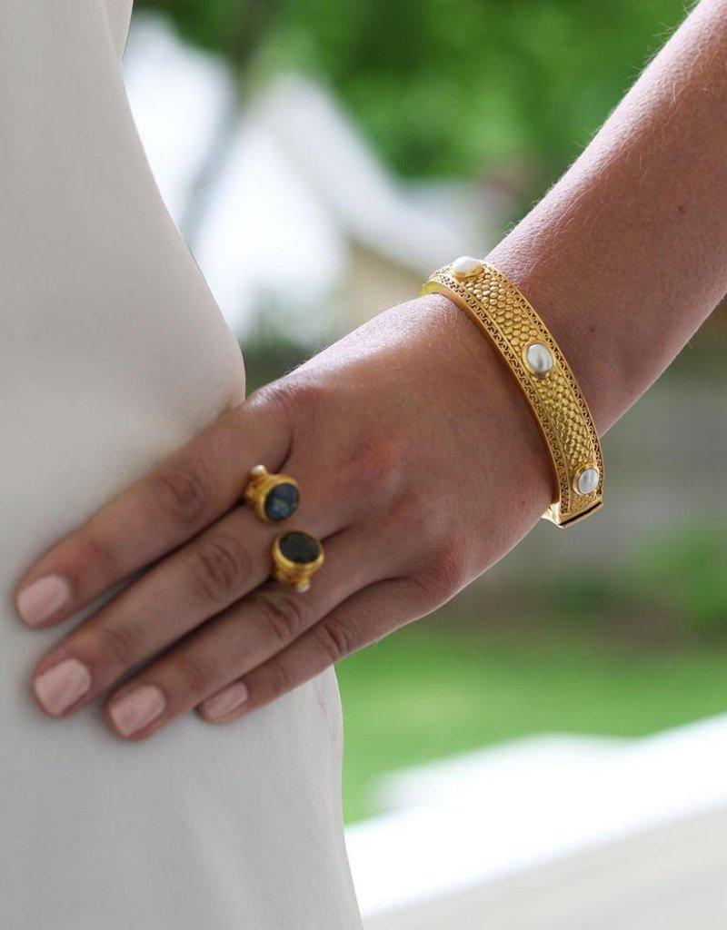 Medici 6 Stone Hinge Bangle Pearl