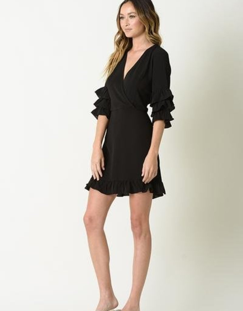 Camille Ruffle Sleeve Dress