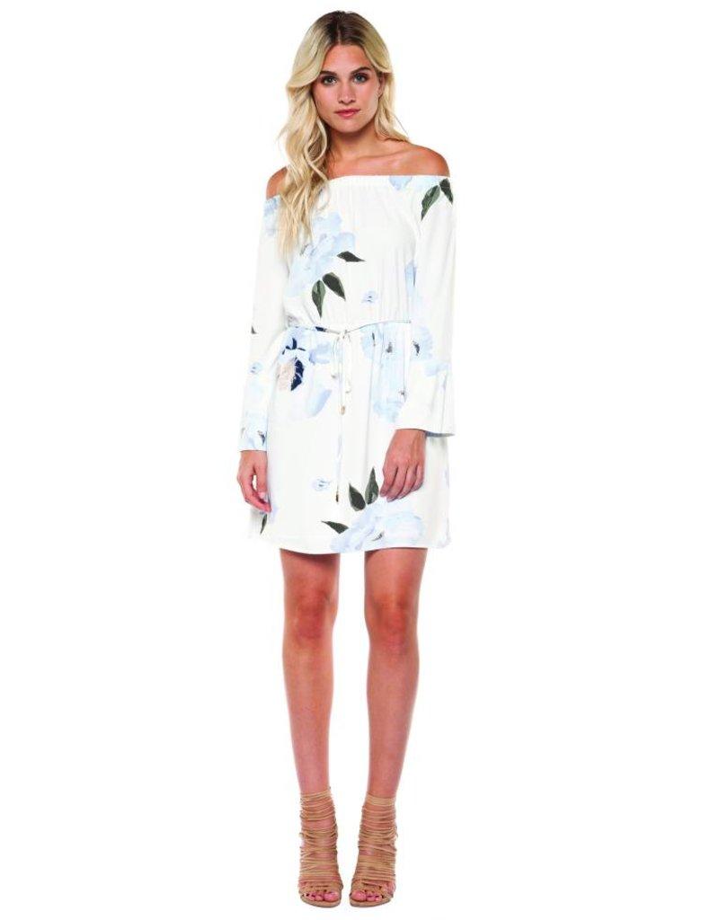 Off Shoulder Watercolor Dress