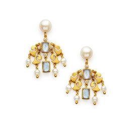 Clara Chandelier Earring Blue