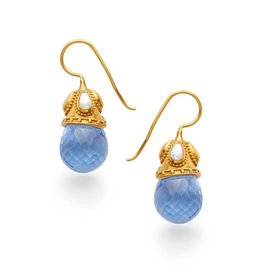 Baroque Earring Blue and Pearl