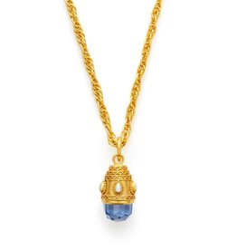 Baroque Small Pendant Blue and Pearl