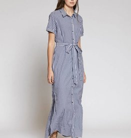 Blue Dawn Shirt Maxi Dress