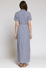 Blue Dawn Shirt Maxi Dress