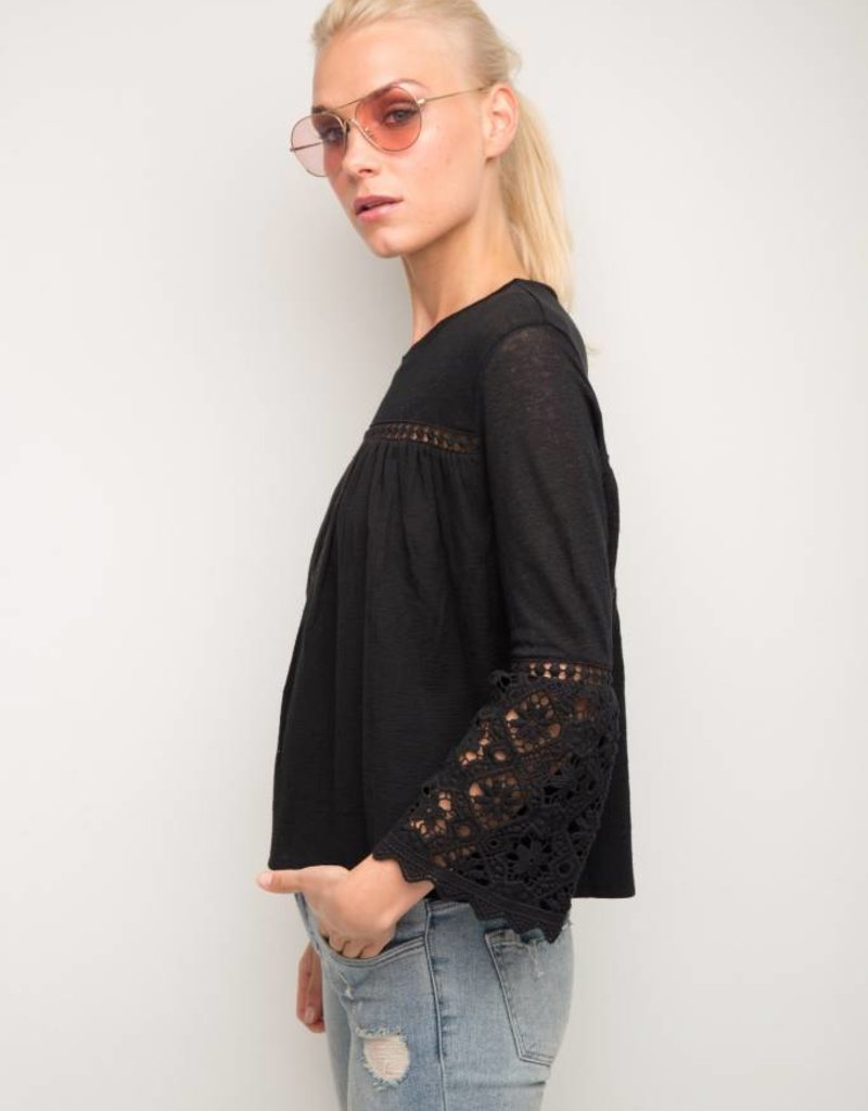 Generation Love - Rachel LS Crochet Top