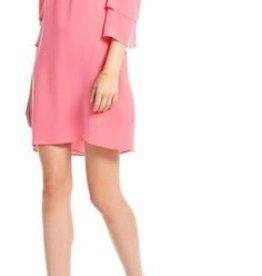 Cold Shoulder Silk Dress -Size Large