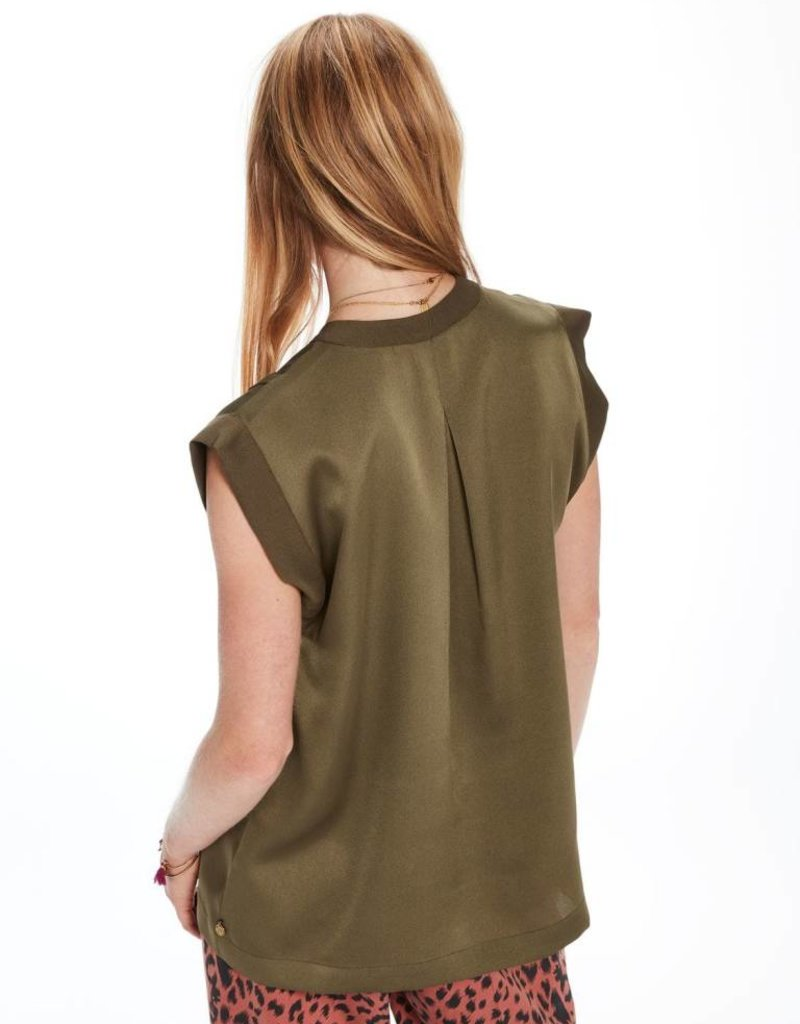 Silky Top with Pleat Detail