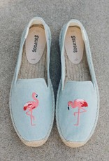 Chambray Flamingo Espadrille
