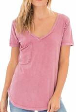Washed Cotton Pocket Tee