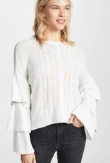 Kristin Ruffle Sleeve Sweater **See More Colors**