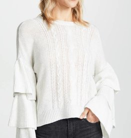 Kristin Ruffle Sleeve Sweater **See More Colors**