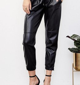 David Lerner Vegan Leather Jogger