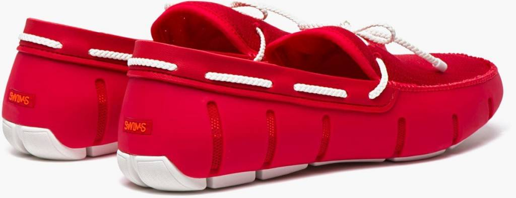 Swims Swims Braided Lace Red/White Loafer