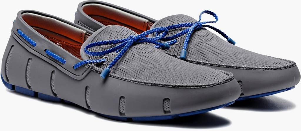 Swims Swims Braided Lace Grey/Blue Loafer