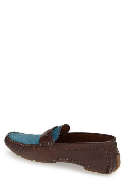 Bacco Bucci Bacco Bucci Albatros Tan/Blue Loafer