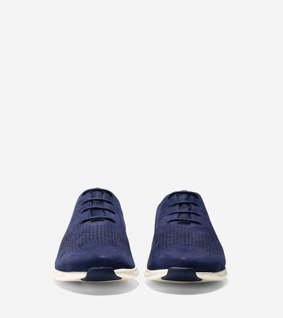 Cole Haan Cole Haan 2.ZeroGrand Laser Wingtip Oxford Marine Blue Nubuck/Ivory  Casual Shoe
