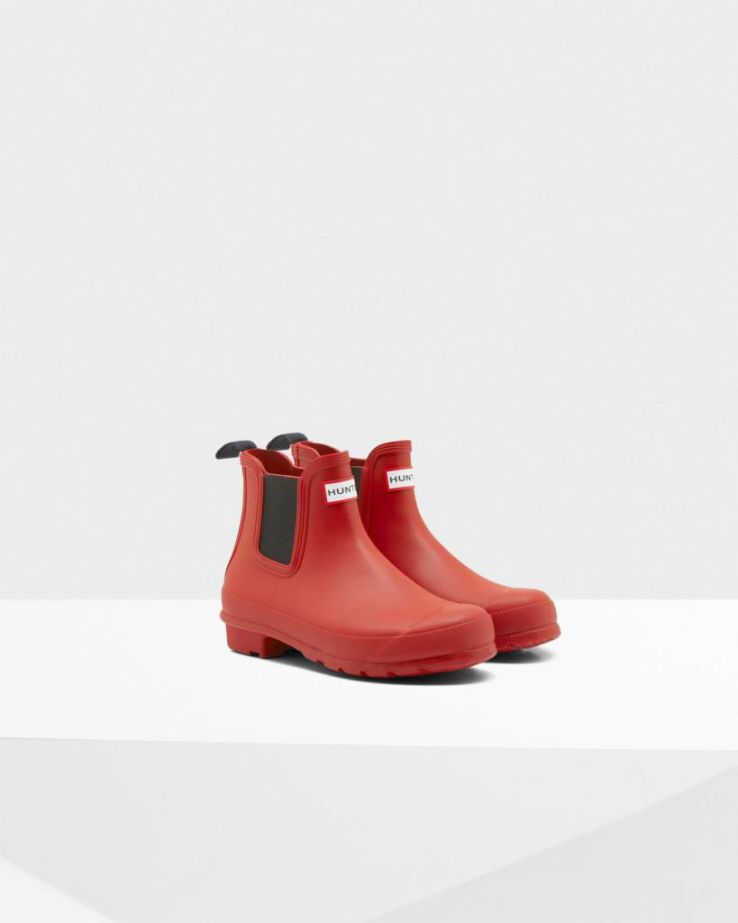Hunter Hunter Original Chelsea Red Boot