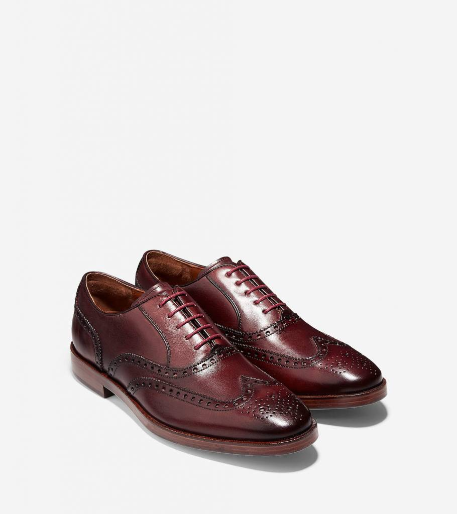 Cole Haan Cole Haan Hamilton Grand Wingtip Oxford Cordovan Dress Shoe