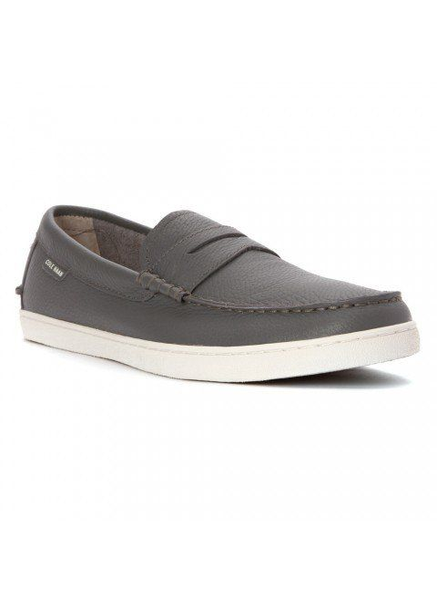 fc4a7938295 Cole Haan Pinch Weekender Grey Leather White Loafer - The Shoe Boutique