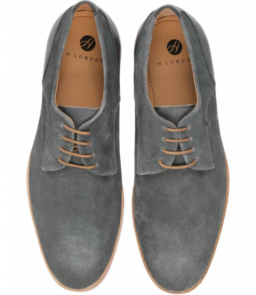 Hudson Of London Hudson of London Enrico Charcoal Dress Shoes