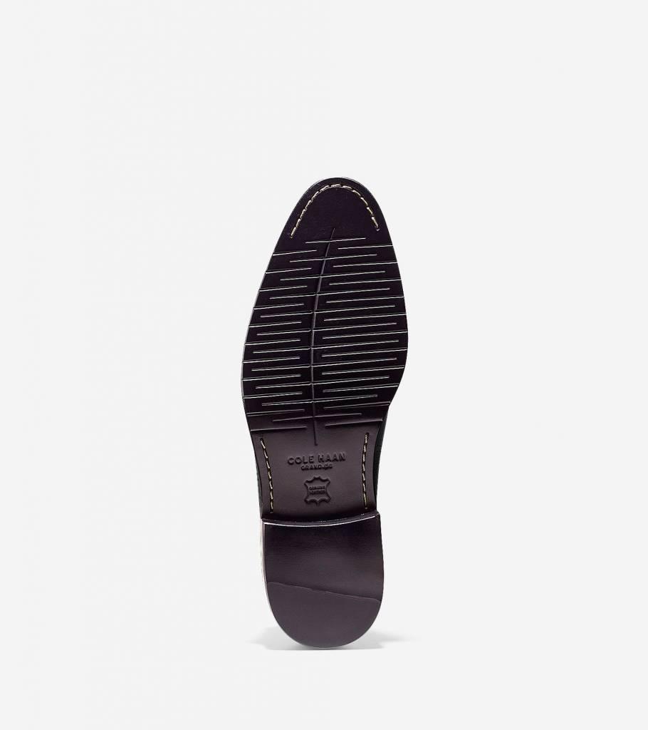 Cole Haan Cole Haan Washington Grand Laser Wingtip Oxford Black/Bristol Blue Dress Shoe