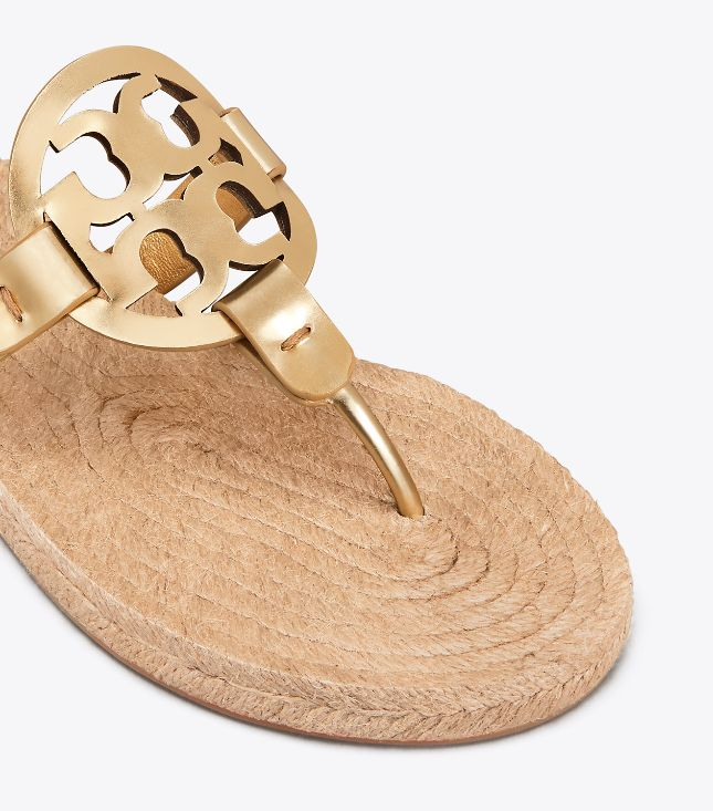 Tory Burch Tory Burch Miller Espadrille Gold Sandal
